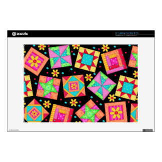 Black Quilt Block Art Laptop Skin