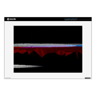 Black Quilted Abstract with Horizontal Lines Decal For Laptop