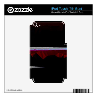 Black Quilted Abstract with Horizontal Lines iPod Touch 4G Skins