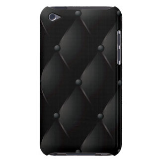 Black Quilted Faux Leather Barely There iPod Case
