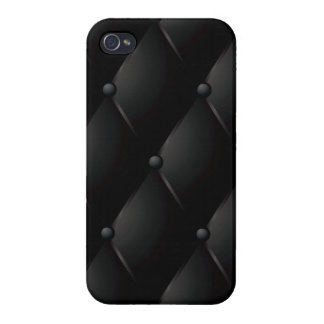 "Black Quilted Faux ""Leather"" iPhone 4/4S Case"