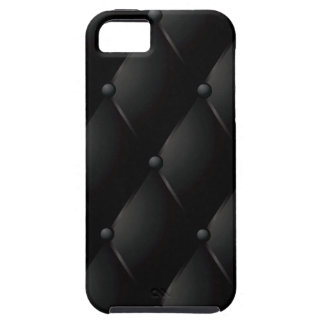"Black Quilted Faux ""Leather"" iPhone SE/5/5s Case"