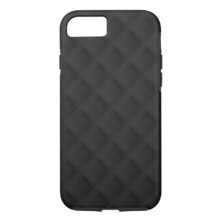 Black Quilted Leather iPhone 7 Case