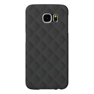 Black Quilted Leather Samsung Galaxy S6 Cases