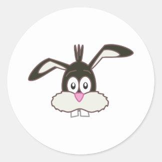 Black Rabbit head Classic Round Sticker