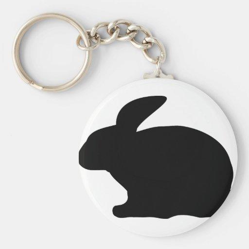 black rabbit icon key chains