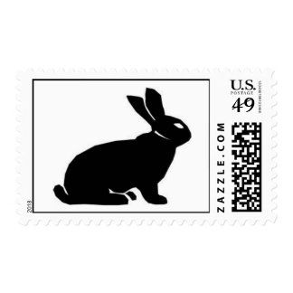 BLACK RABBIT POSTAGE STAMPS