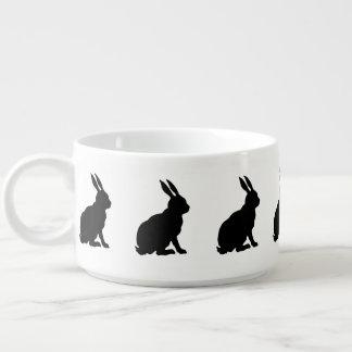 Black Rabbit Silhouette Easter Bunny Bowl