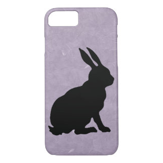 Black Rabbit Silhouette Easter Bunny iPhone 7 Case