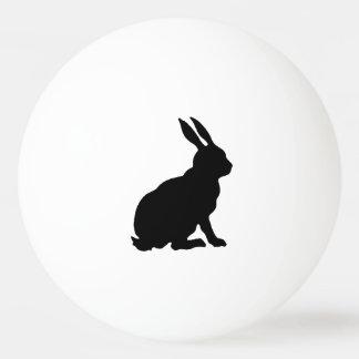 Black Rabbit Silhouette Easter Bunny Ping-Pong Ball