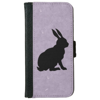 Black Rabbit Silhouette Easter Bunny iPhone 6 Wallet Case