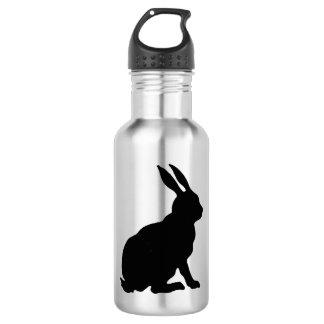 Black Rabbit Silhouette Easter Bunny Water Bottle