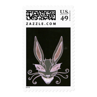 black rabbit stamp