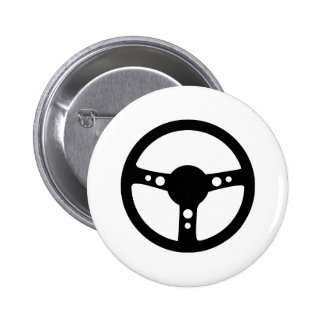 black racing steering wheel icon 2 inch round button