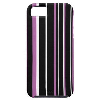 Black, Radiant Orchid, and White Stripe iPhone SE/5/5s Case