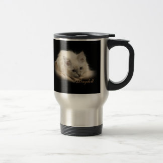 Black Ragdoll travel mug