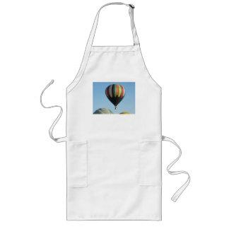 black rainbow balloon long apron