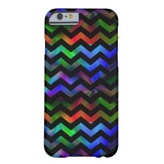 Black Rainbow Chevron Barely There iPhone 6 Case