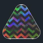 "Black Rainbow Chevron Bluetooth Speaker<br><div class=""desc"">A twist on the zigzag chevron pattern for this bluetooth speaker.</div>"