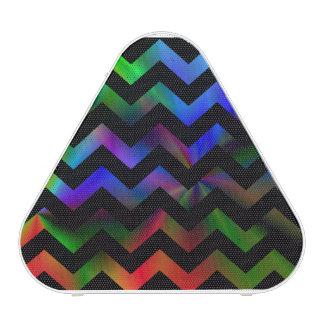 Black Rainbow Chevron Bluetooth Speaker