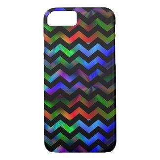 Black Rainbow Chevron iPhone 7 Case