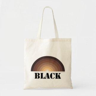 BLACK RAINBOW reusable tote bag