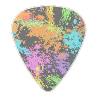 Black Rainbow Splattered Acetal Guitar Pick