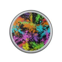 Black Rainbow Splattered Speaker