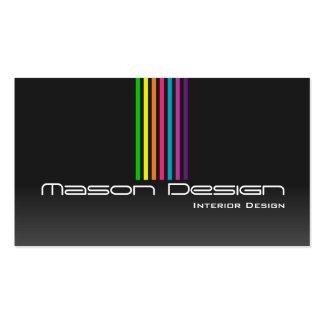 Black Rainbow Stripes Business Card