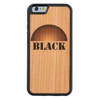 BLACK RAINBOW wood iPhone case