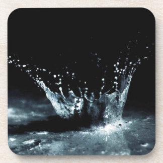 Black Raindrop Splash Hard Plastic coasters