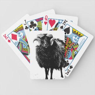 Black Ram Bicycle Playing Cards