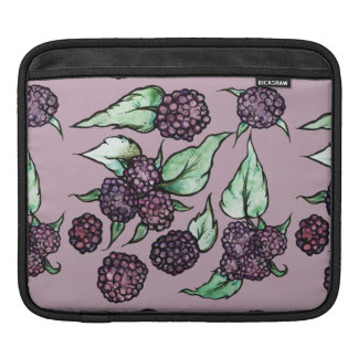 Black Raspberry Lover Pattern Sleeve For iPads