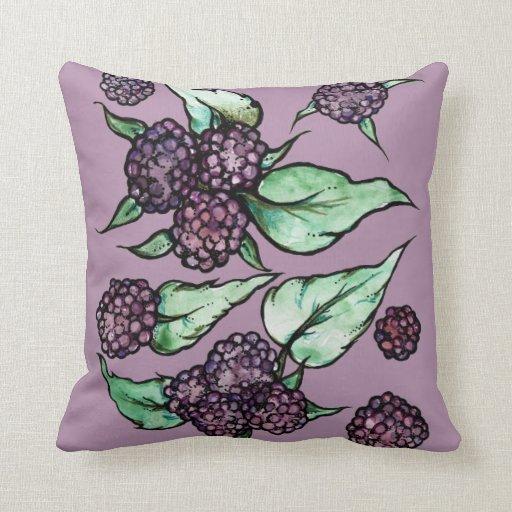 Throw Pillows Rules : Black Raspberry Throw Pillow Zazzle
