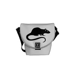 Black rat courier bag