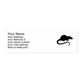Black rat mini business card