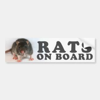 (Black) Rats one board Bumper Sticker