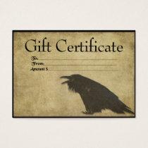 Black Raven- Black Raven- Prim Gift Certificate Ca