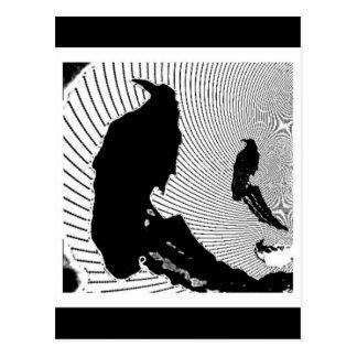 Black Raven Classic Design by Sharles Postcard