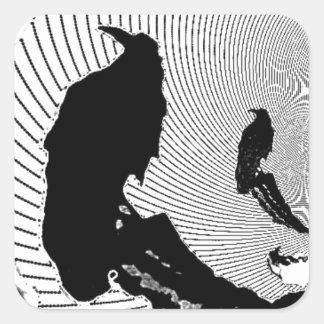 Black Raven Classic Design by Sharles Square Sticker