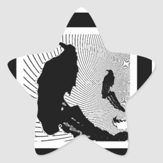 Black Raven Classic Design by Sharles Star Sticker
