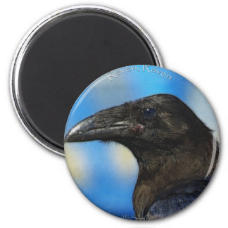 BLACK RAVEN Collection 2 Inch Round Magnet