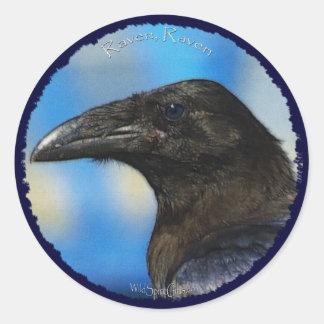 BLACK RAVEN Collection Classic Round Sticker