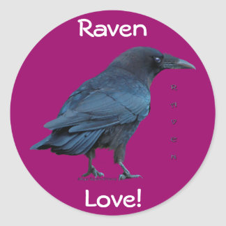 Black Raven Collection III Classic Round Sticker