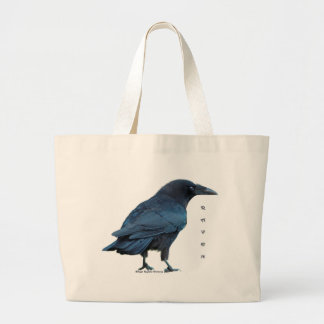 Black Raven Collection III Large Tote Bag