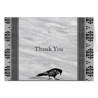 Black Raven Gothic Frame Anniversary Thank You Card