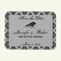 Black Raven Gothic Frame Save the Date Magnet