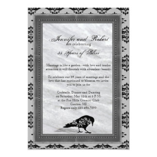 Black Raven Gothic Frame Wedding Anniversary Card