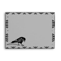 Black Raven Gothic Frame Wedding Envelope