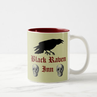 Black Raven II Two-Tone Coffee Mug